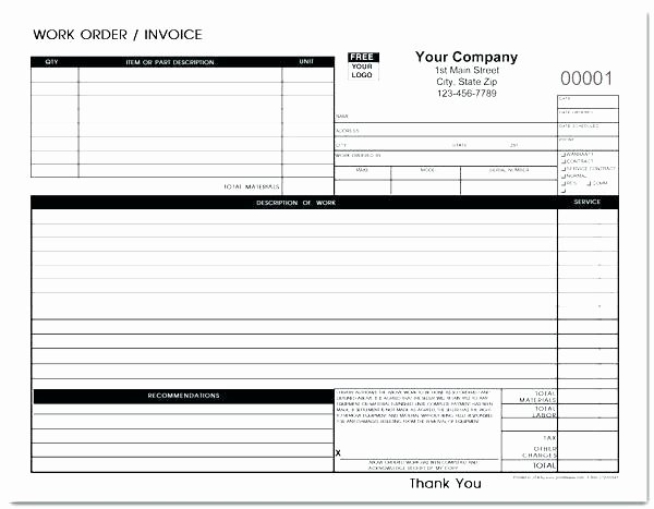 Auto Work order Template Beautiful Auto Repair Work order Template Inspirational Automotive