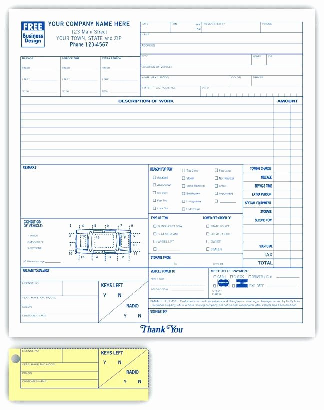 Auto Work order Template Best Of Blank Auto Repair Invoice Automotive Work order Template