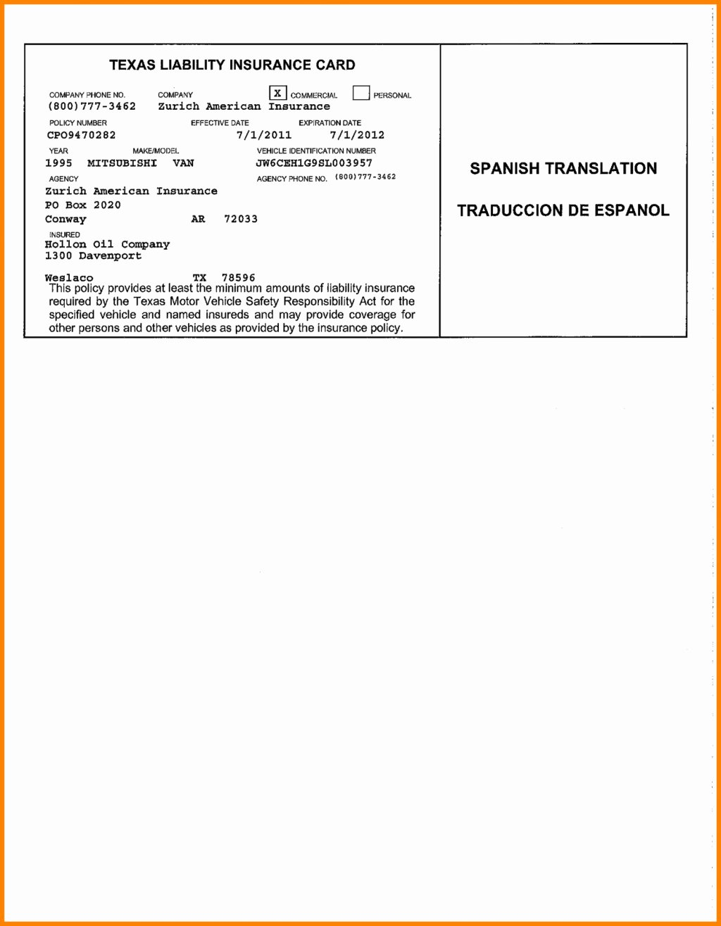 Automobile Insurance Card Template Elegant Blank Insurance Card Template Ten Secrets You Will Not