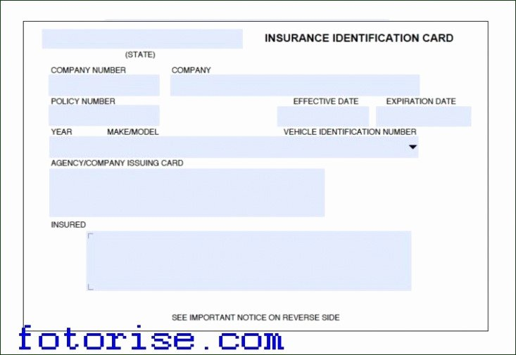 Automobile Insurance Card Template Inspirational Fake social Security Card Template Download Awesome Fake
