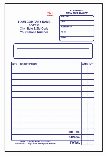 Automotive Repair Receipt Template Lovely Mechanic Receipt Template