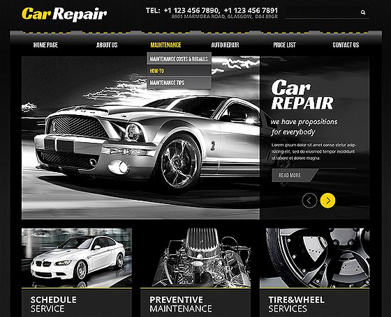 Automotive Repair Website Template Beautiful Car Service Website Template