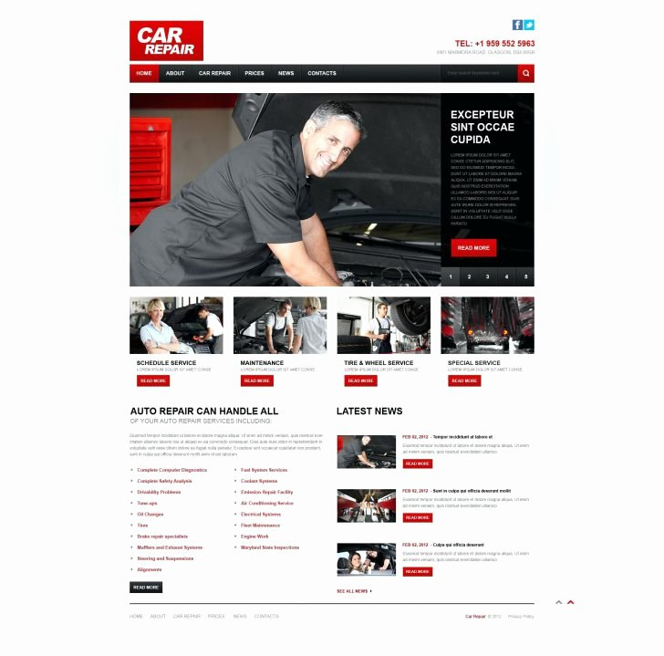 Automotive Repair Website Template Best Of Sample Business Plan for Auto Repair Shop Image Bussiness