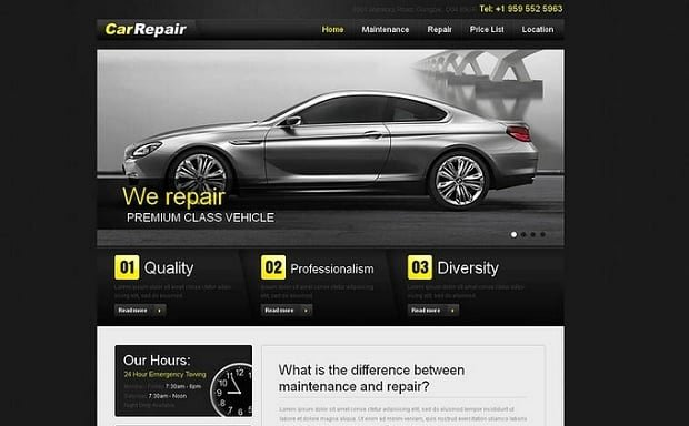 Automotive Repair Website Template Elegant Car Repair Website Templates Take Your Auto Service Line