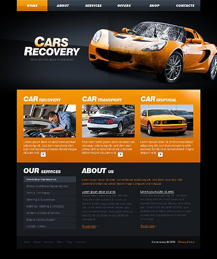 Automotive Repair Website Template Fresh Template Car Repair Website Template