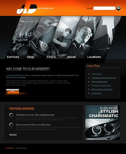 Automotive Repair Website Template Inspirational Template