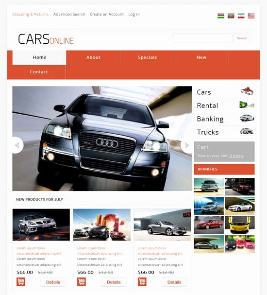 Automotive Repair Website Template Lovely 50 Best E Merce Website Templates Free & Premium