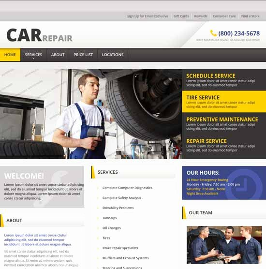 Automotive Repair Website Template Lovely 70 Best Car Auto Website Templates Free & Premium