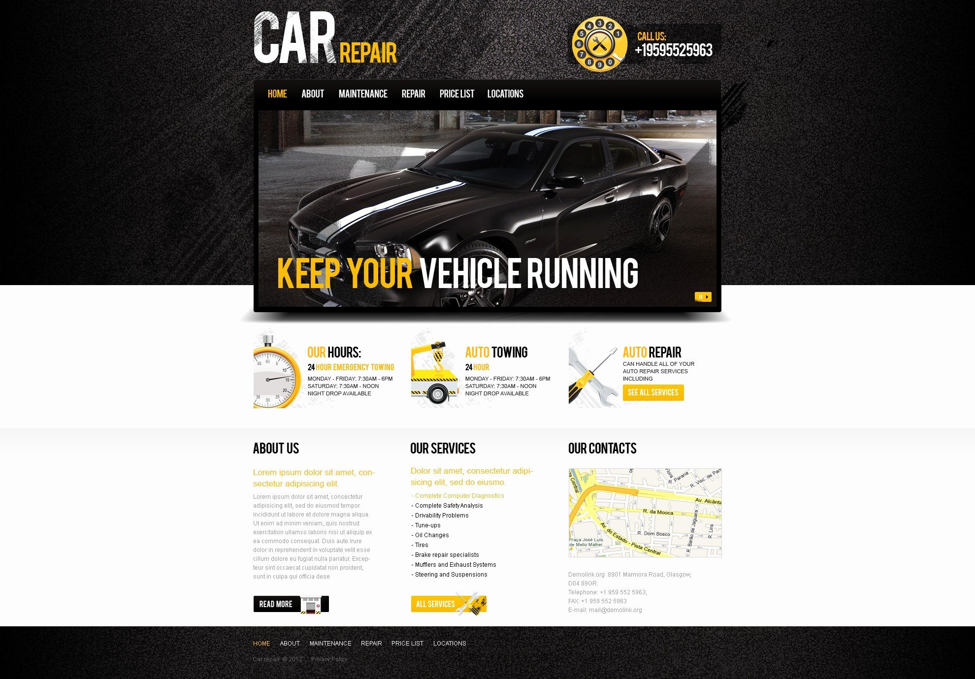Automotive Repair Website Template Lovely Car Repair Website Template