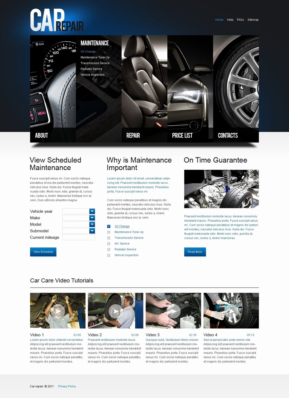 Automotive Repair Website Template New Car Repair Website Template