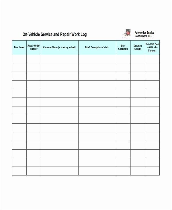 Automotive Work order Template Inspirational Excel Work order Template 13 Free Excel Document