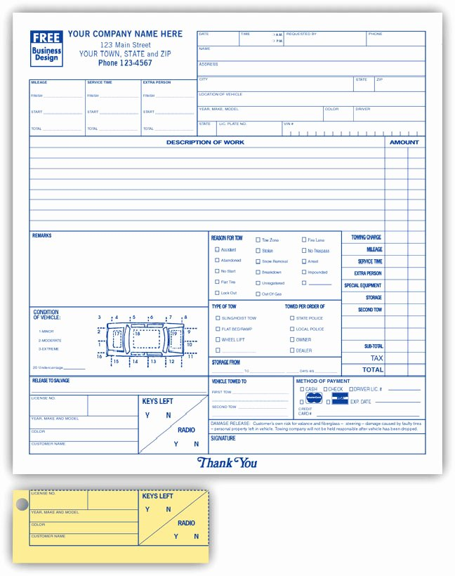 Automotive Work orders Template Elegant Anchorside Carbonless form Templates