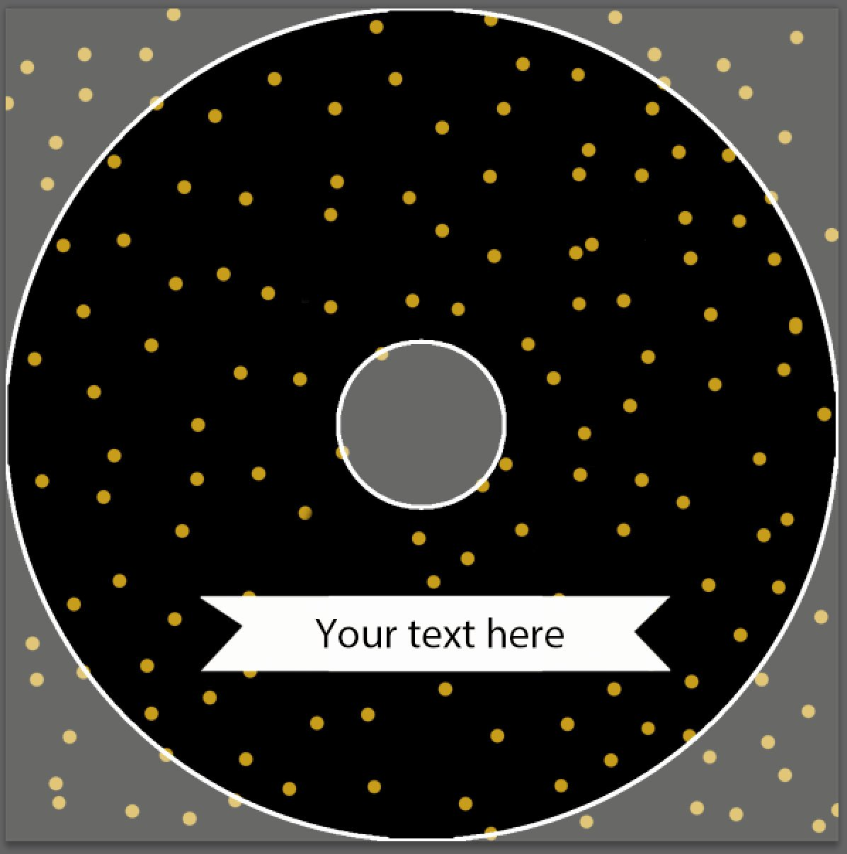 Avery 5931 Template Photoshop Fresh 20 Printed Gold Glitter Polka Dot Cd Dvd Labels Graphy