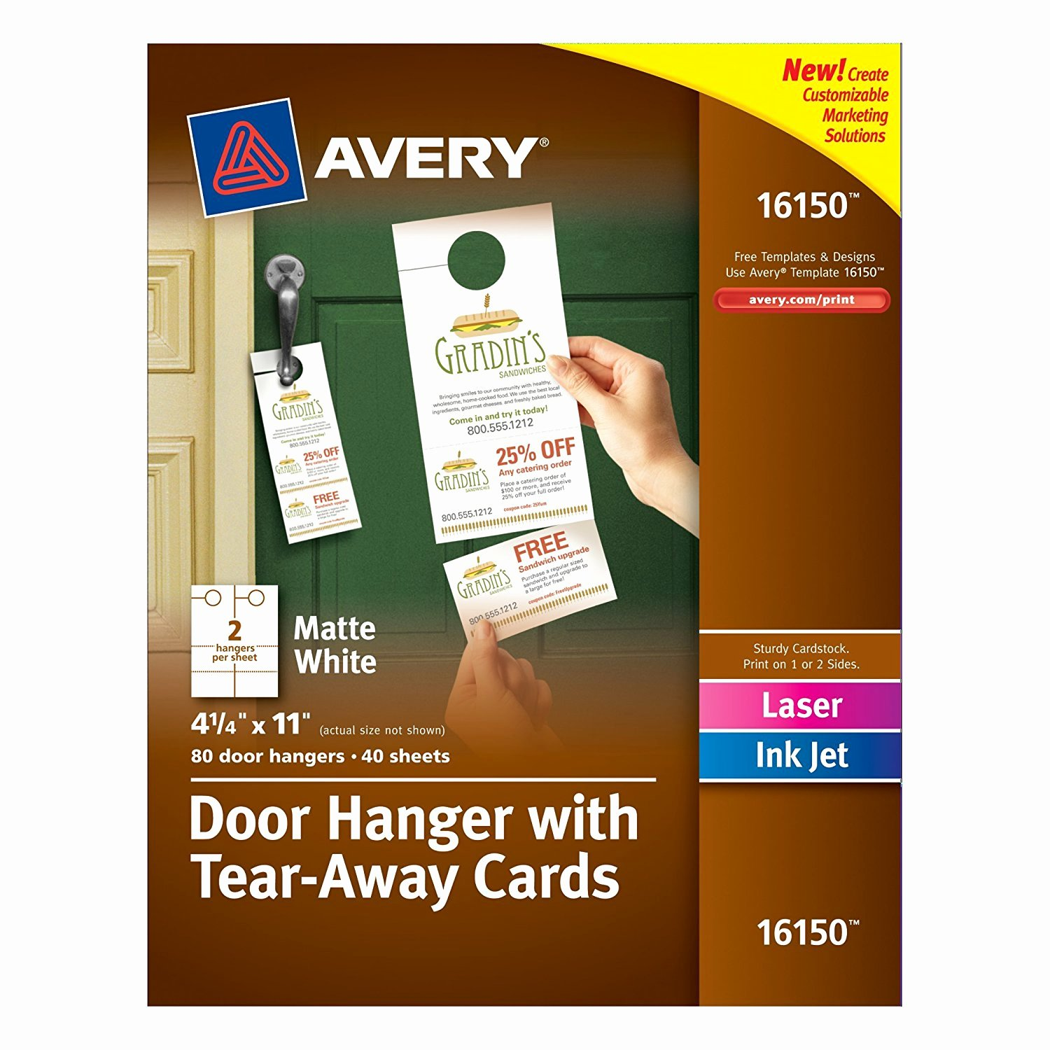 Avery Door Hanger Template Awesome Flyer with Tear F Tabs Template thebridgesummit Ideas