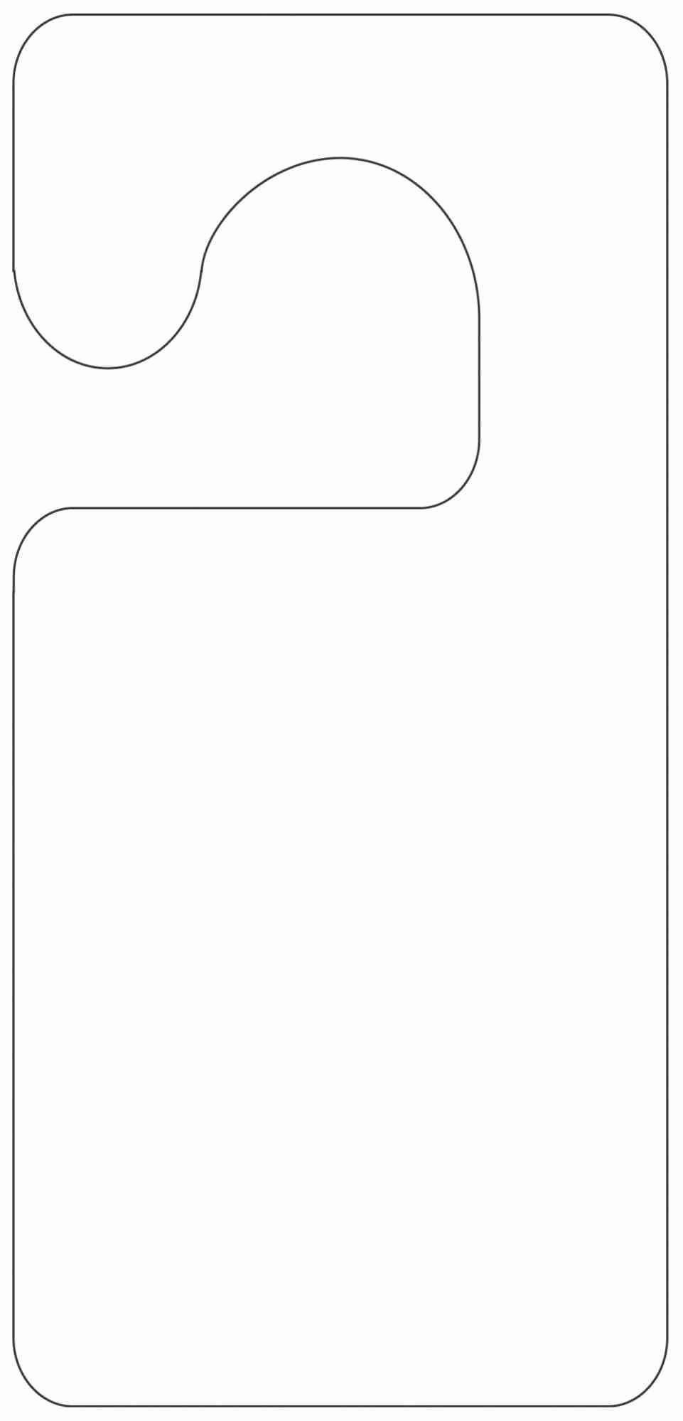 Avery Door Hanger Template Beautiful Awesome Blank Bag topper Template