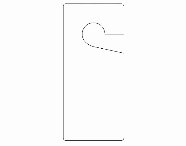 Avery Door Hanger Template Fresh Door Knocker Template Template for Door Hanger Door Sign