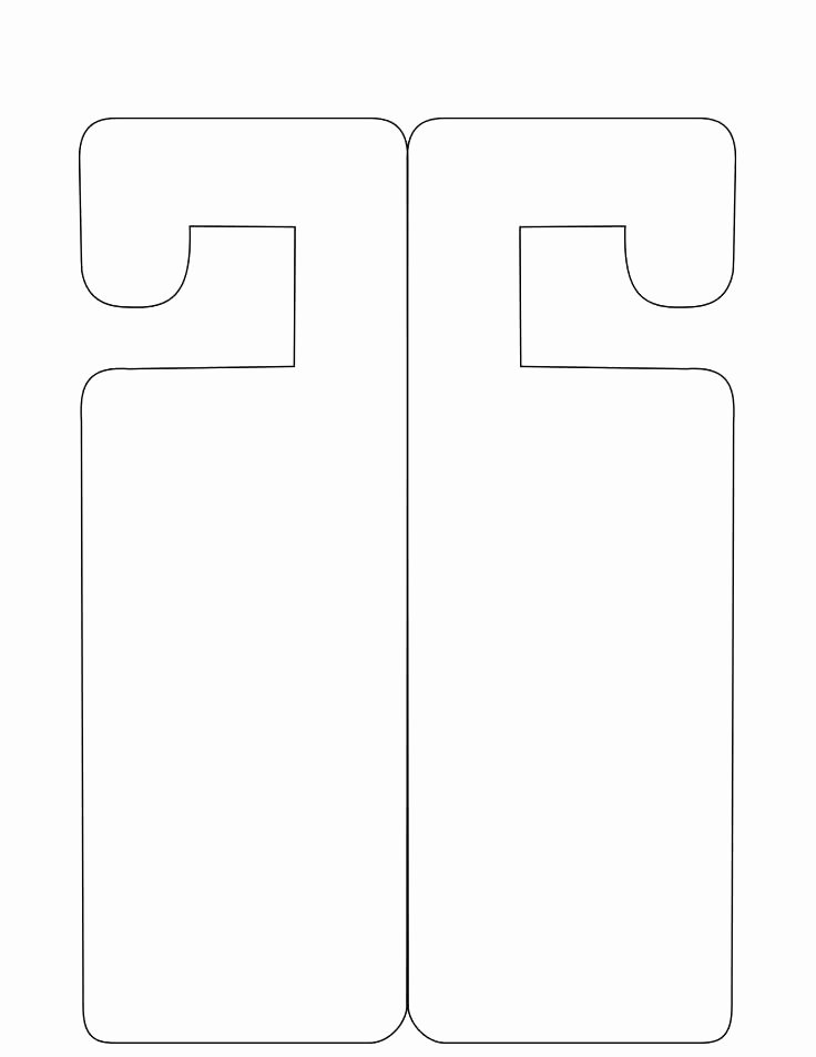 Avery Door Hanger Template Unique Door Knocker Template Template for Door Hanger Door Sign