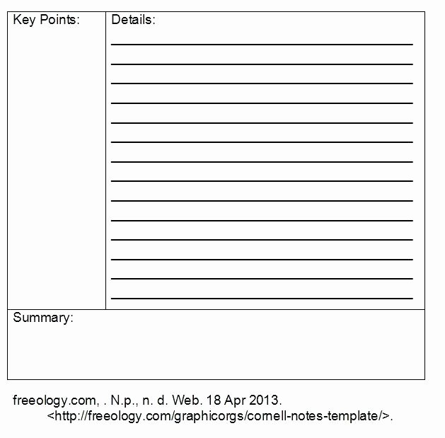 Avid Cornell Note Template Best Of Avid Notes Template Awesome Secretary Note Taking