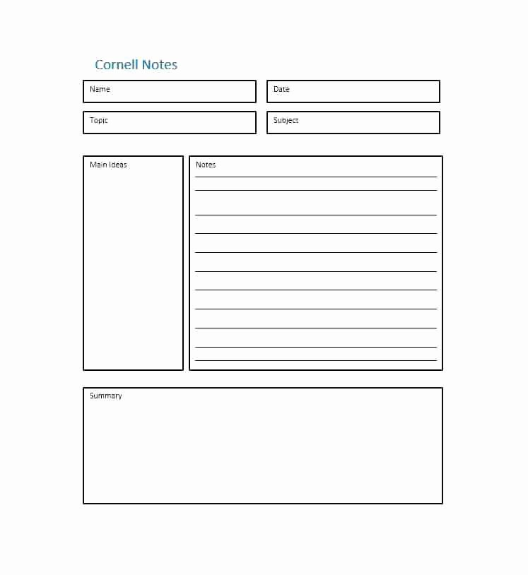 Avid Cornell Note Template New Sample Note Taking Notes Science social Stu S Infinite