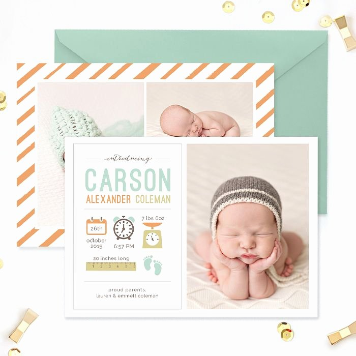 Baby Announcement Template Free Beautiful Best 25 Birth Announcement Template Ideas that You Will