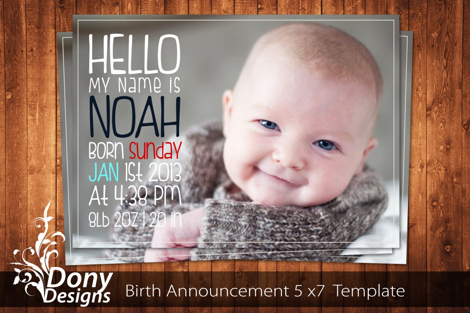 Baby Announcement Template Free Lovely Buy 1 Get 1 Free Birth Announcement Neutral Baby