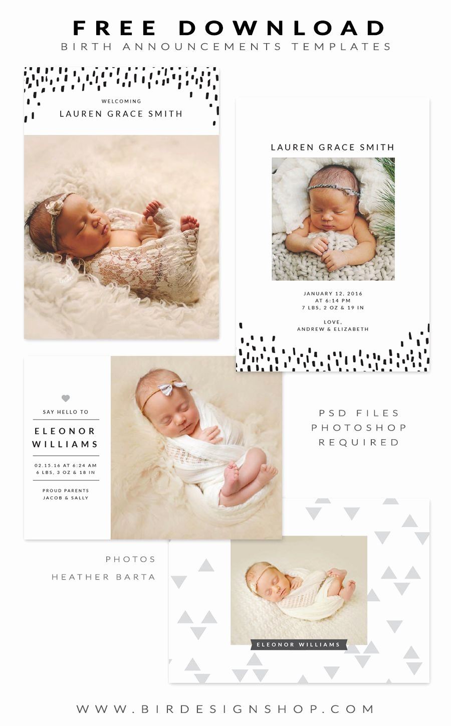 Baby Announcement Template Free Lovely Free Birth Announcements Templates January Freebie