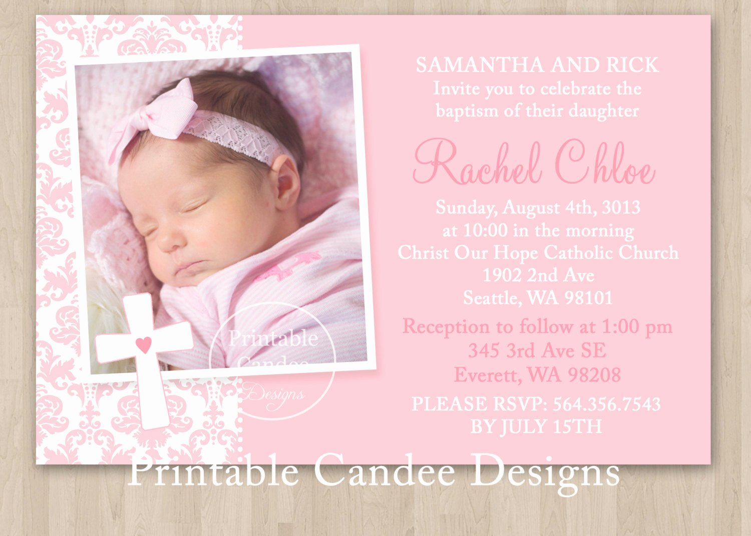 Baby Announcement Template Free Luxury Baby Christening Invitation Templates Free Templates
