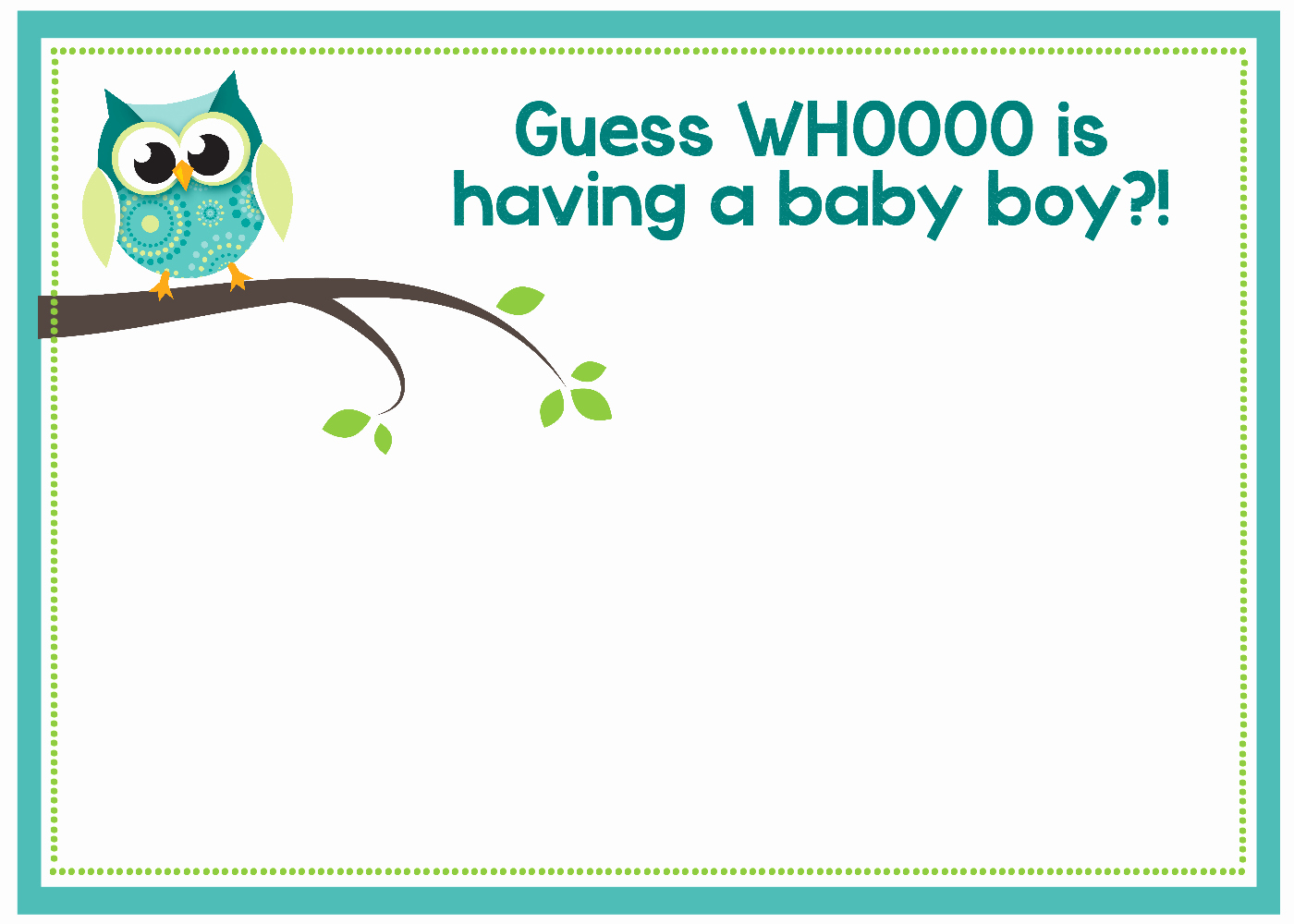 Baby Announcement Template Free Luxury Free Printable Owl Baby Shower Invitations & Other