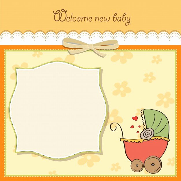 Baby Announcement Template Free Unique Baby Announcement Card Template Vector