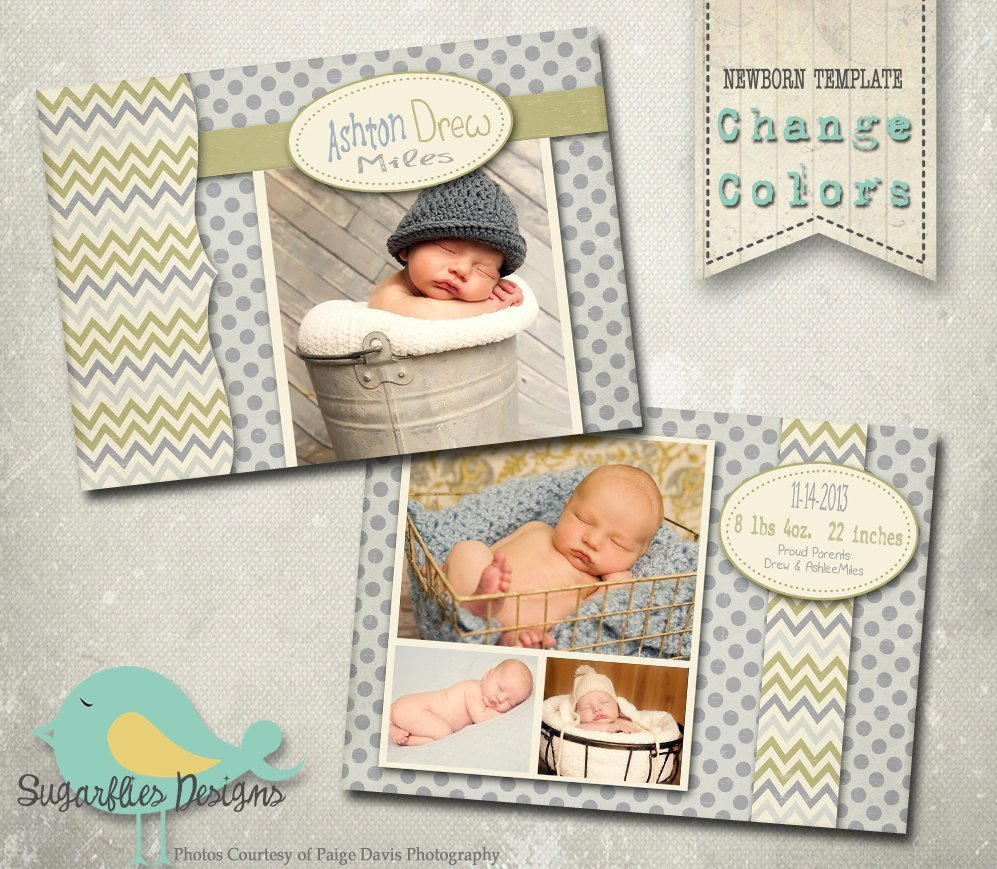 Baby Announcement Template Free Unique Baby Birth Announcement Photoshop Template Baby Boy