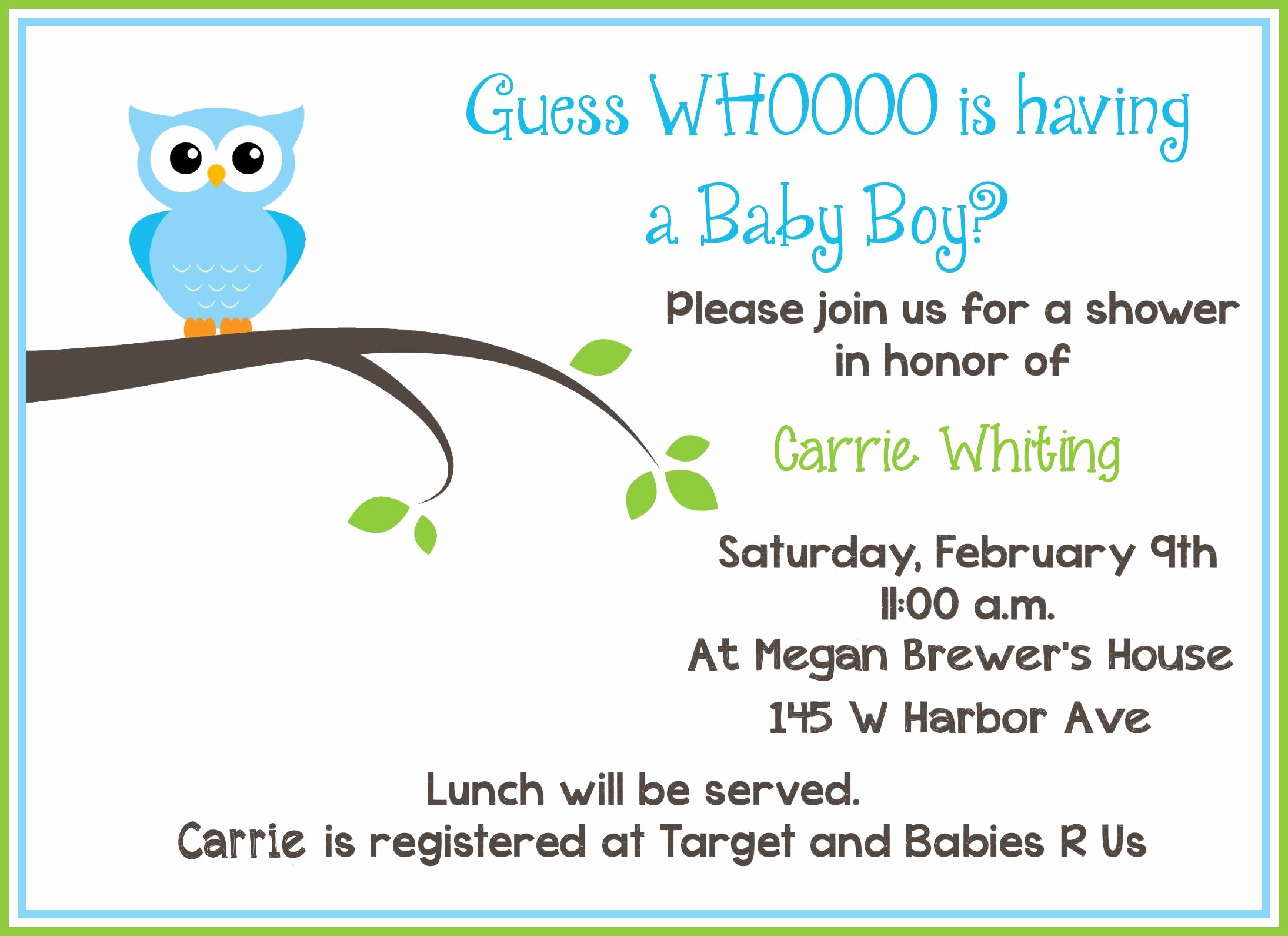 Baby Announcement Template Free Unique Free Baby Invitation Template Free Baby Shower