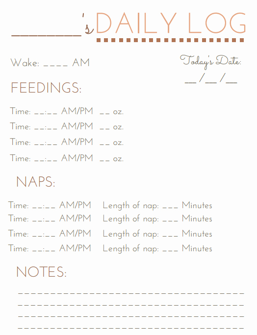 Baby Daily Schedule Template Fresh Pumping and Nursing A Working Mom S Routine
