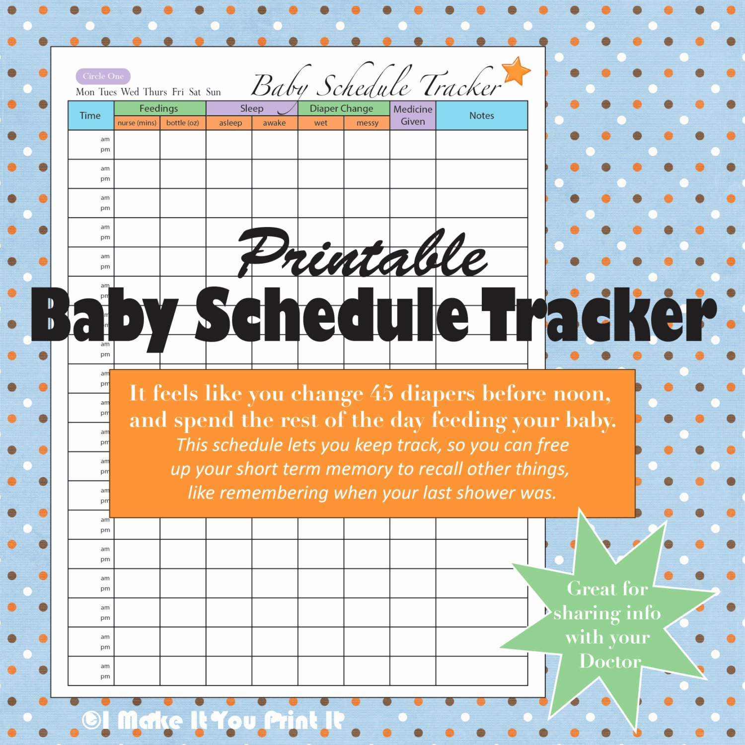 Baby Daily Schedule Template Lovely Printable Baby Schedule Tracker and Twins Schedule Tracker