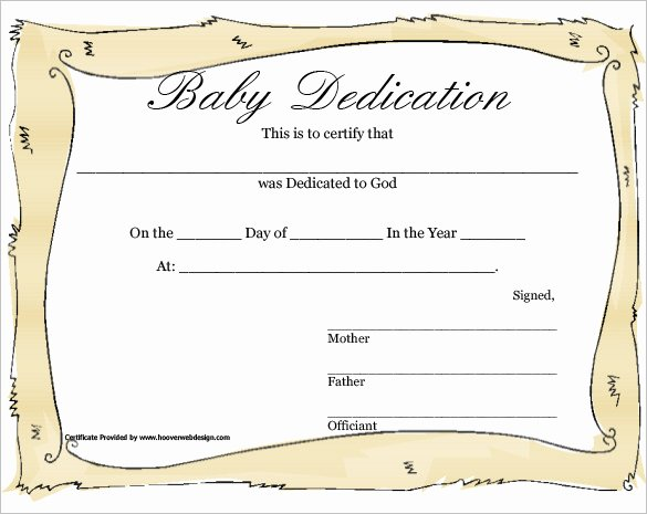 Baby Dedication Certificate Template Fresh Baby Dedication Certificate Template 21 Free Word Pdf