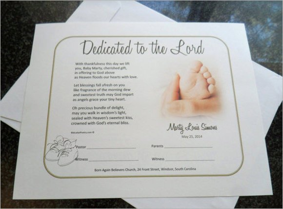 Baby Dedication Certificate Template Inspirational Baby Dedication Certificate 7 Download Free Documents