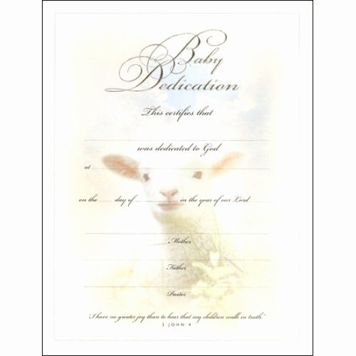 Baby Dedication Certificate Template Inspirational Warner Press Certificate Baby Dedication Portrait