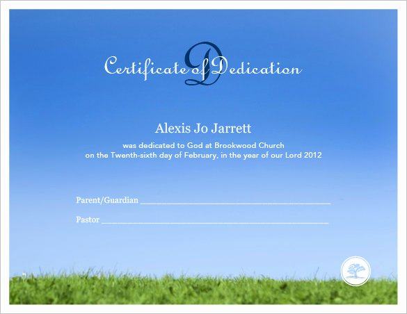 Baby Dedication Certificate Template Unique Baby Dedication Certificate Template 21 Free Word Pdf