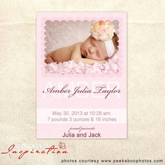 Baby Girl Announcement Template Awesome 301 Moved Permanently