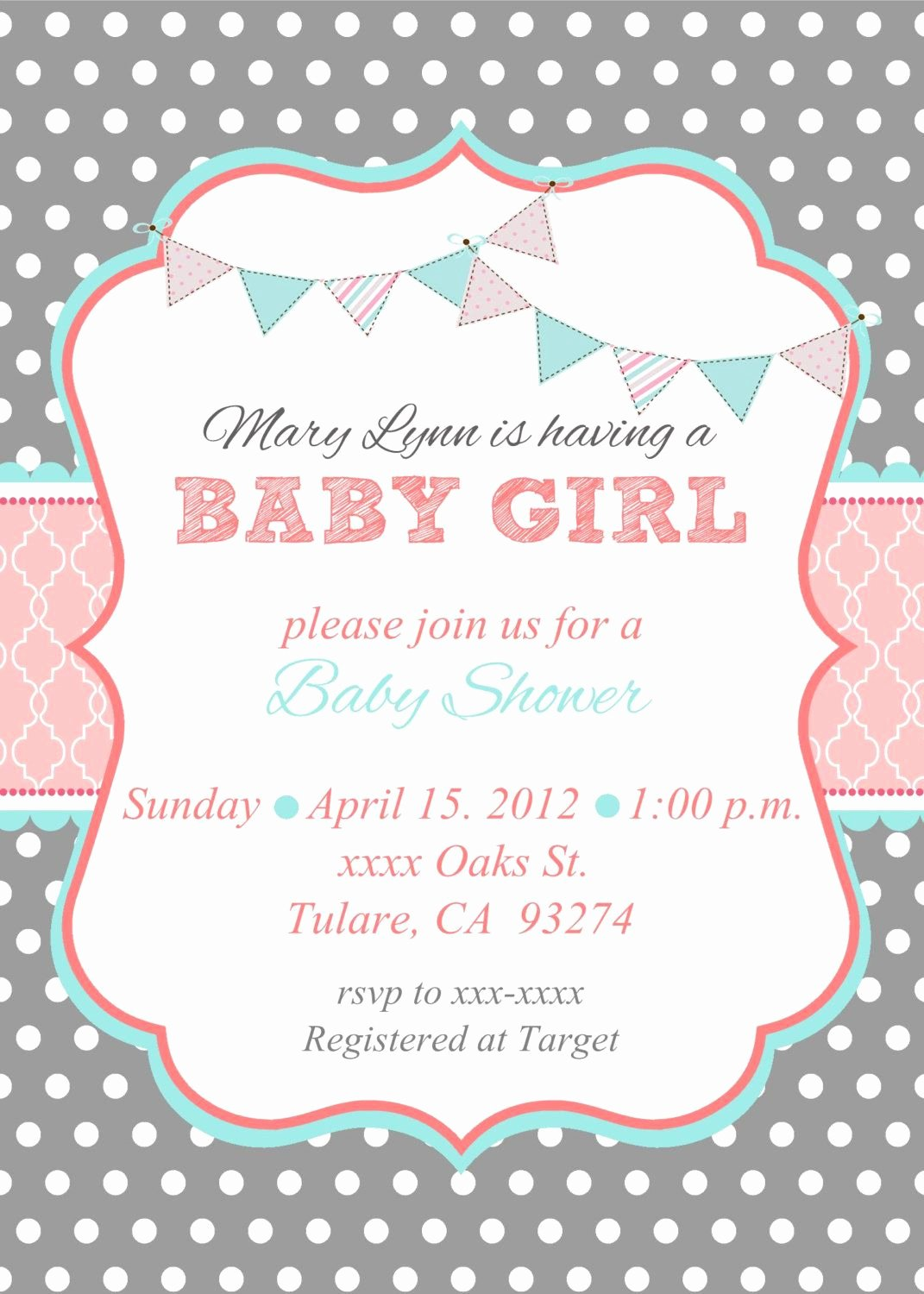 Baby Girl Announcement Template Best Of Loca Date Time Line About Diaper Raffle & Spa Prize