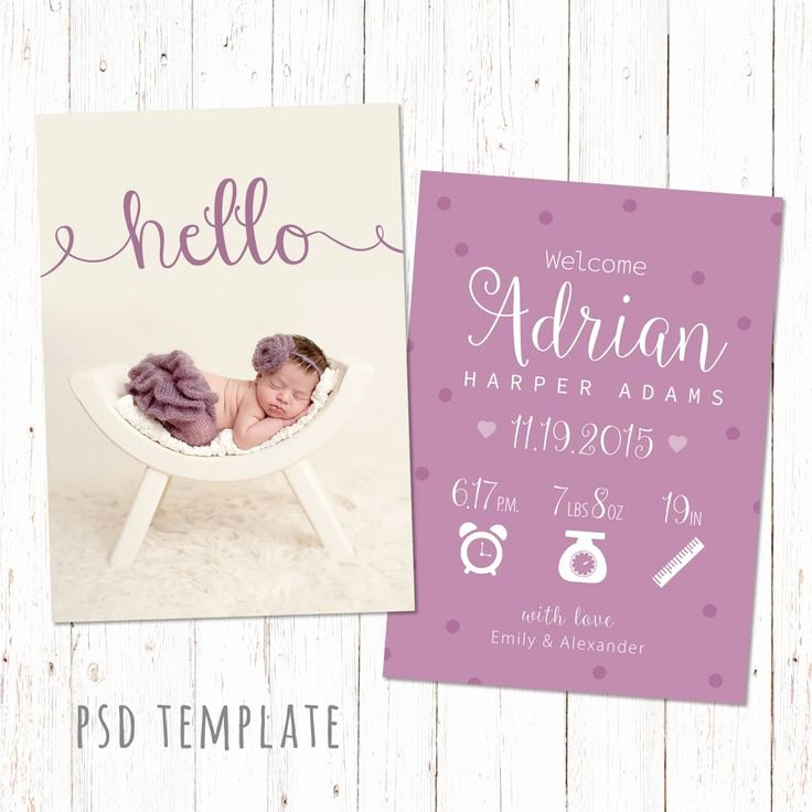 Baby Girl Announcement Template Elegant Best 25 Birth Announcement Template Ideas On Pinterest