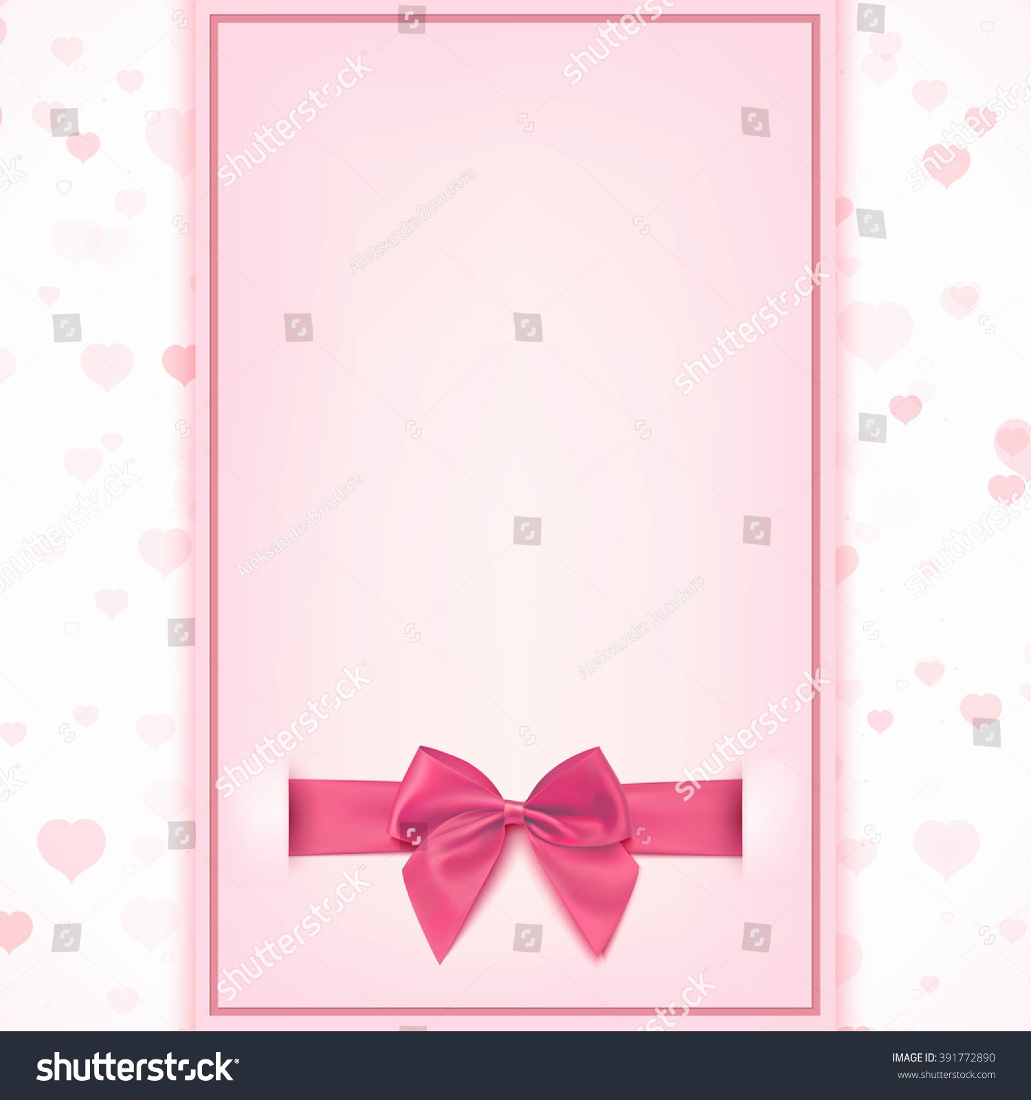 Baby Girl Announcement Template Elegant Blank Greeting Card Template Baby Girl Stock Illustration