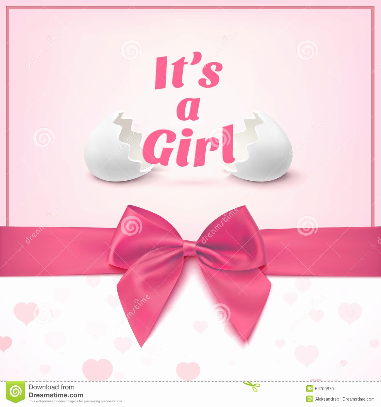 Baby Girl Announcement Template Elegant Its A Girl Template for Baby Shower Celebration Stock