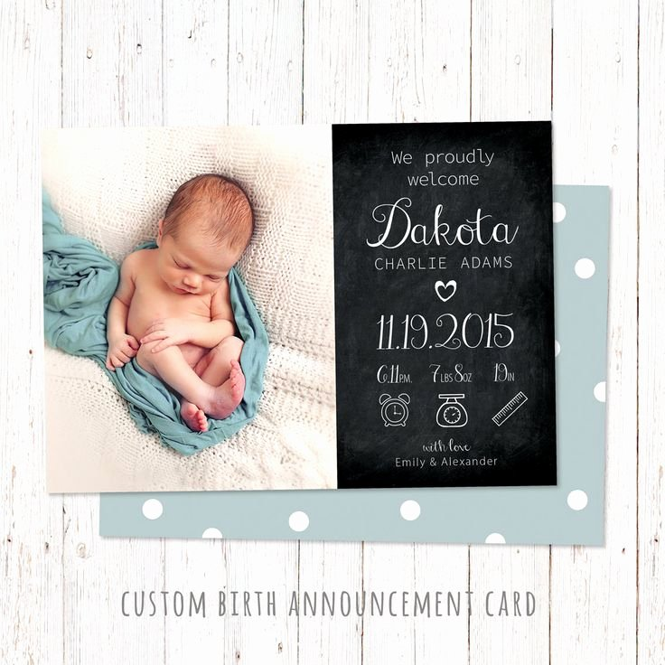 Baby Girl Announcement Template New 15 Best Birth Announcement Templates Images On Pinterest