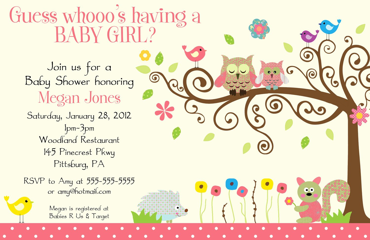 Baby Girl Announcement Template New Baby Shower Help — the Bump