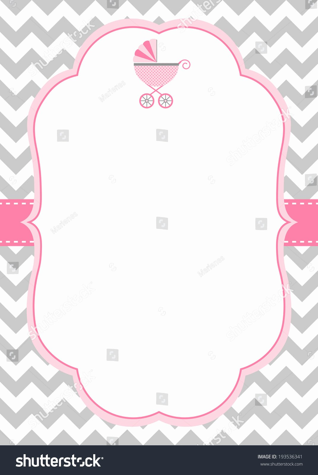 Baby Girl Announcement Template Unique Baby Girl Shower Invitation Template with Baby Stroller