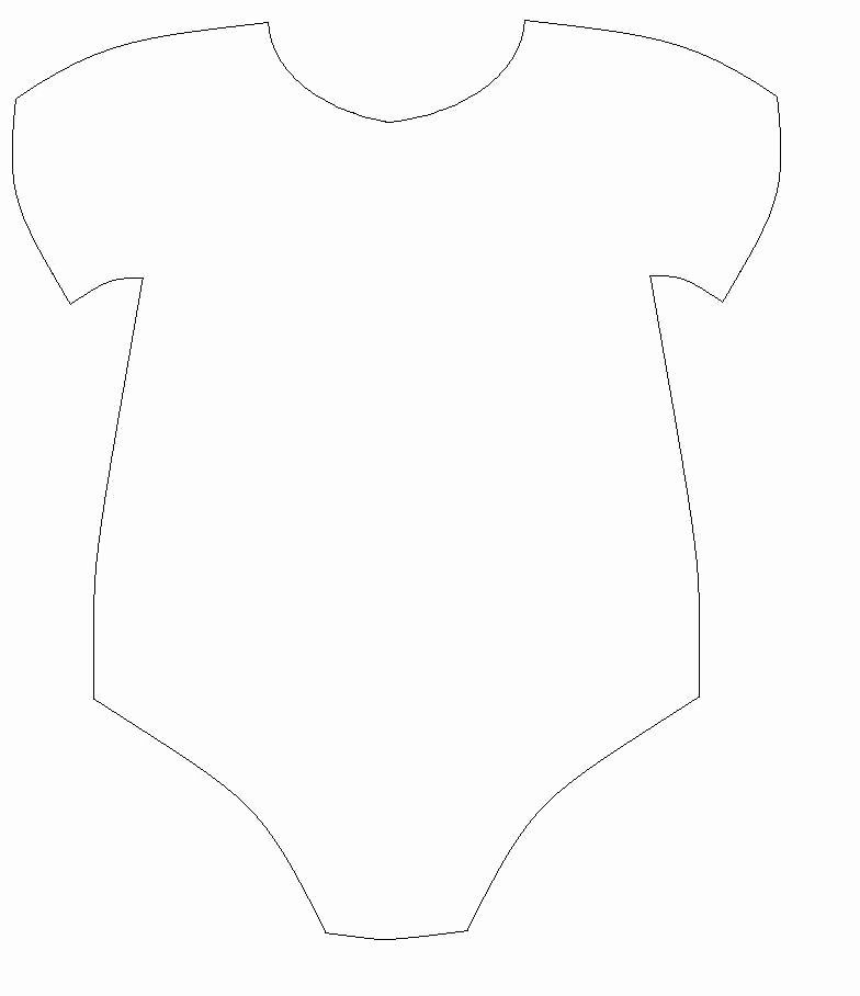 Baby Onesie Invite Template Awesome Free Baby Esie Cut Out Template