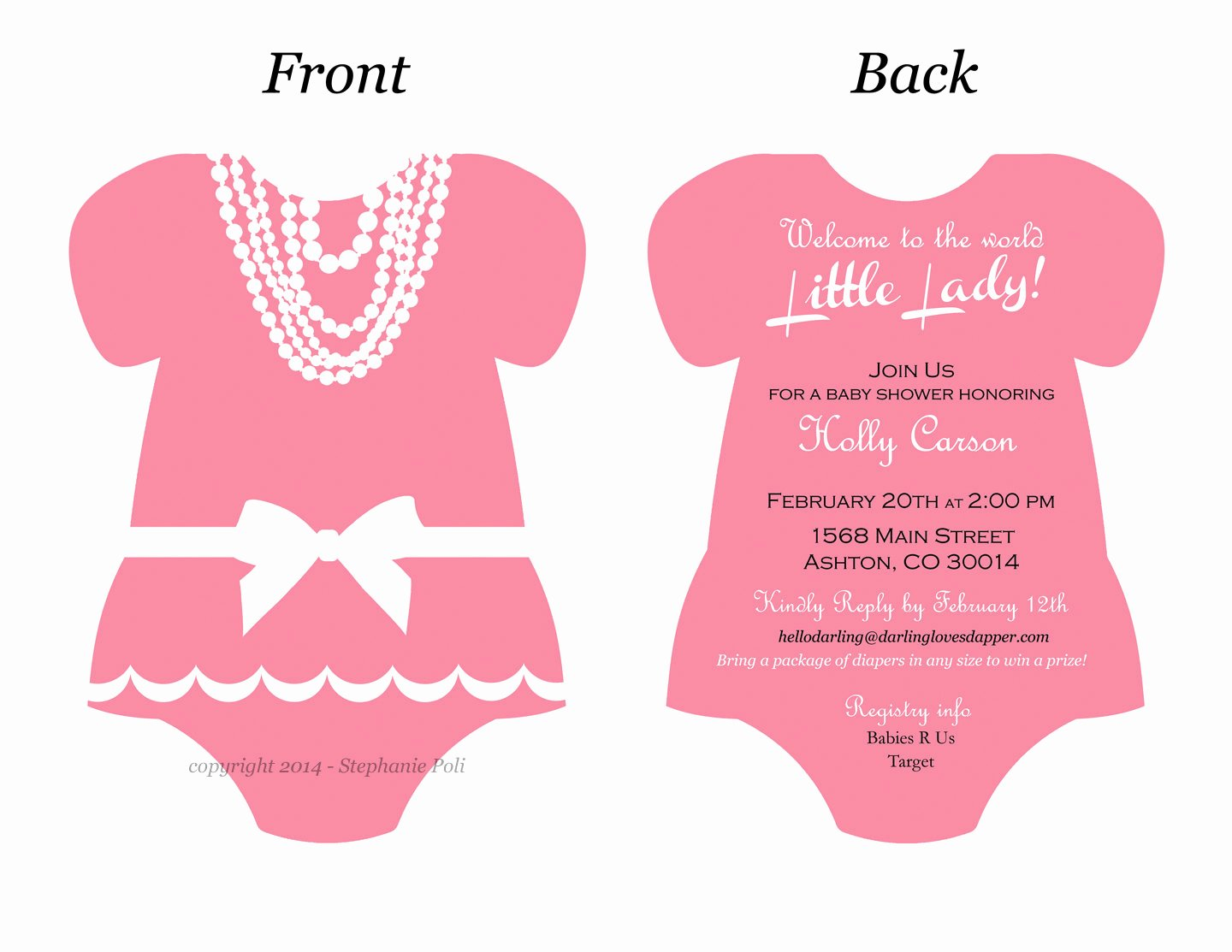 Baby Onesie Invite Template Best Of Esie Invitation Templates