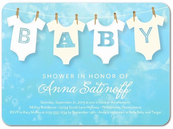 Baby Onesie Invite Template Lovely 11 Esie Invitation Templates Free Sample Example