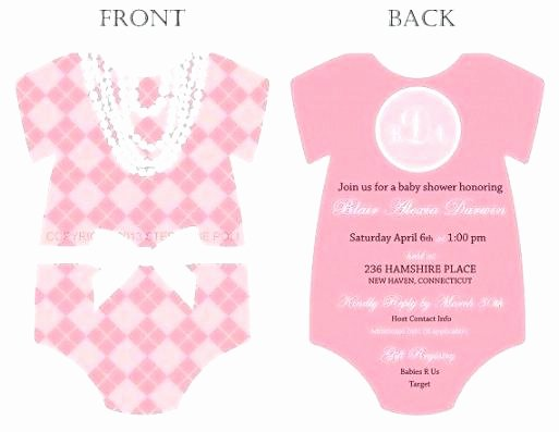 Baby Onesie Invite Template Lovely Esie Baby Shower Invitations Baby Shower Invitation
