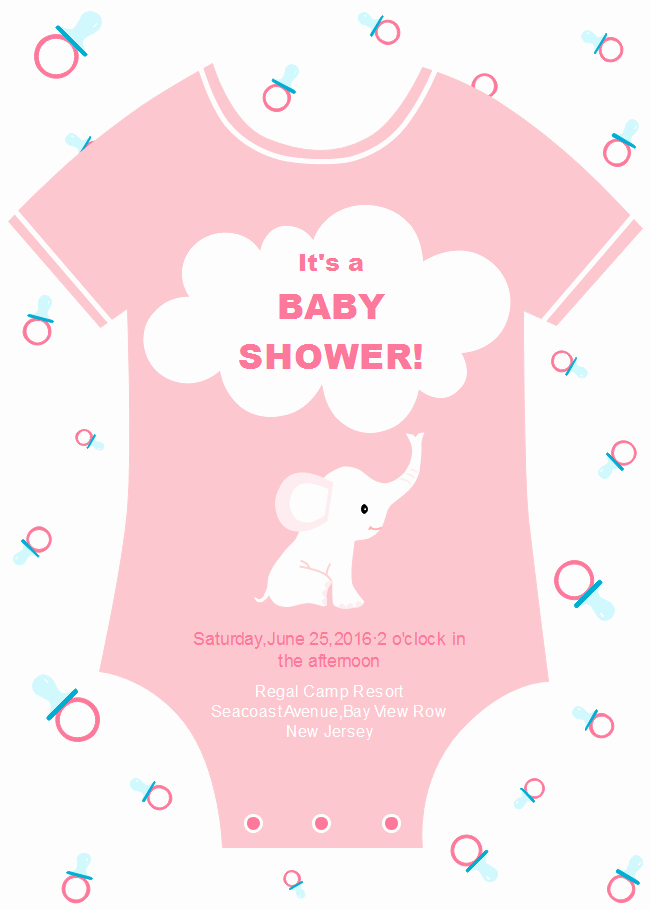 Baby Onesie Invite Template New Esie Baby Shower Invitation